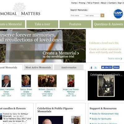 Memorial Matters