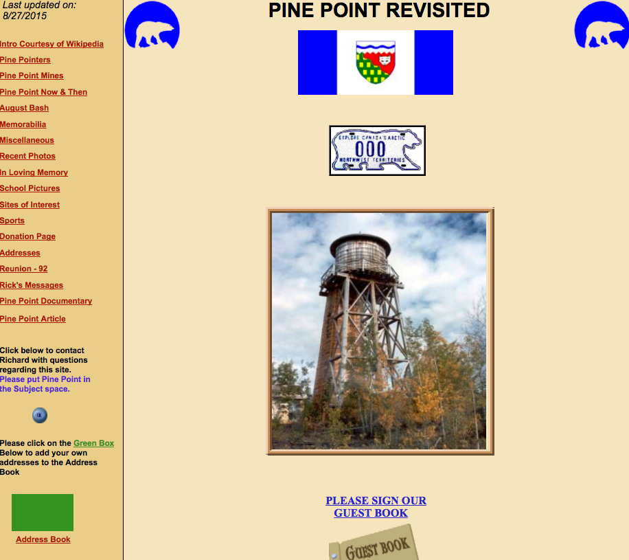 Pine Point Revisited – Digital Graveyards Project