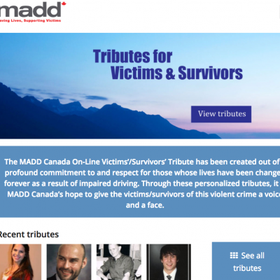 MADD Tributes for Victims & Survivors