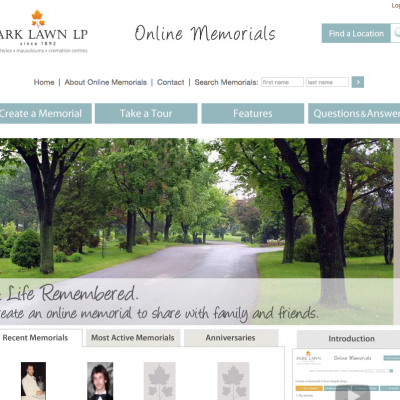 Park Lawn LP Online Memorials